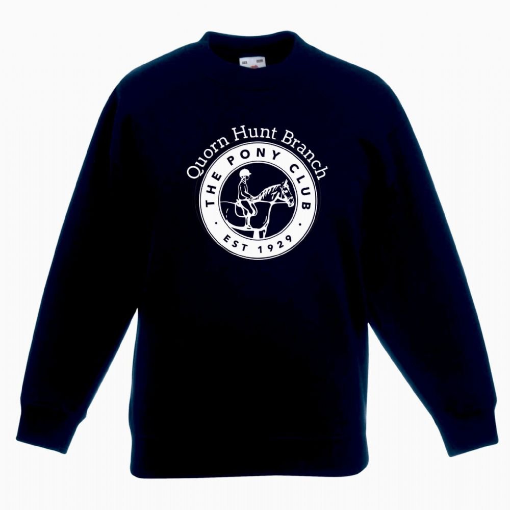 Childrens Quorn Hunt Navy Sweatshirt